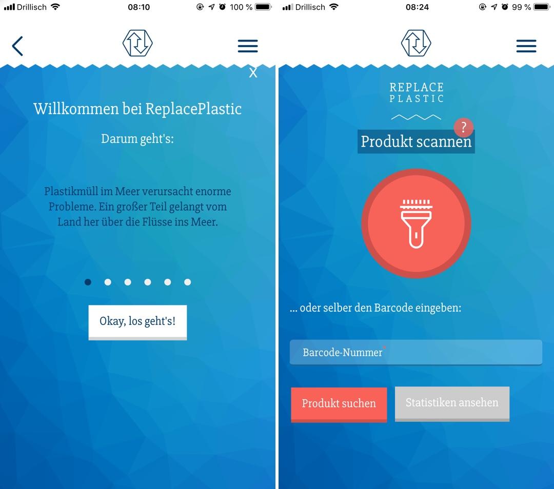 ReplacePlastic App: Feedback zur Verpackung an Hersteller schicken