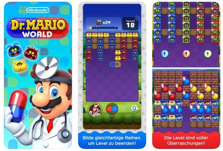 Nintendo: Dr. Mario World für Android & iOS veröffentlicht